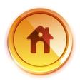 glossy orange home button vector image