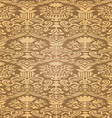 gold seamless abstract floral pattern background vector image