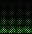 green geometrical abstract dot pattern - snowfall vector image vector image