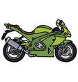 Green strong motorbike vector image vector image