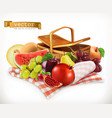 harvest fruits and berries pomegranate apple pear vector image vector image