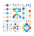 infographic multipurpose financial chart vector image vector image