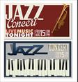 jazz concert banner 4 vector image vector image