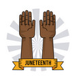 juneteenth day slavery humanitarian symbol vector image vector image