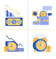 logo symbol designs for time is money business 40 vector image vector image