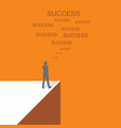 men business success vector image
