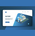 modern factory landing page vector image