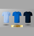 realistic v-neck t-shirt mock up vector image