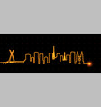 sao paulo light streak skyline vector image vector image