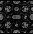 seamless pattern with cloth sewing buttons in vector image