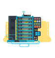 server data center design flat vector image vector image