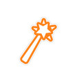 Sticker magic wand on a white background vector image vector image