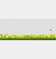 summer nature landscape banner with flowers and vector image vector image