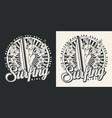 surfing vintage emblem vector image