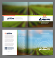 Template booklet design - Wine and winemaking vector image vector image
