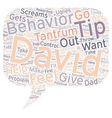 Ten Tips To Prevent Or Subdue Temper Tantrums text vector image vector image