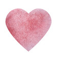 textured watercolor heart icon vector image