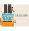 Travel and tourism Flat style World earth map vector image vector image