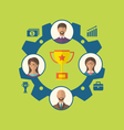 Unity of business people leading to success and vector image