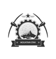 Vintage emblem of the mining industry vector image vector image
