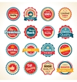 Vintage Premium Quality Color Badges vector image