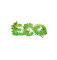 word eco with capital vector image vector image