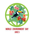 world environment day card eco poster vector image vector image