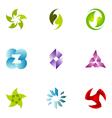 logo design elements set 50 vector image