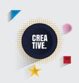 3d creative design element vector image vector image