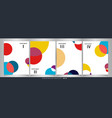 abstract of colorful circle pattern brochure set vector image