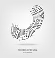 abstract technology circuit board circle backgroun vector image