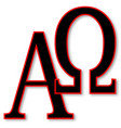 alpha and omega vector image vector image