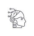 artificial intelligence and robotics line icon vector image