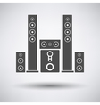 Audio system speakers icon vector image