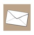 Backside of envelope love letter vector image vector image