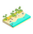 beach rest concept 3d isometric view vector image