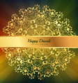 beautiful diwali greeting floral ornaments vector image