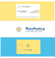 beautiful sun logo and business card vertical vector image vector image