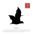 black silhouette a japanese flying fox vector image vector image