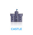 castle medieval fortress icon on white vector image vector image