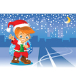 christmas road vector image vector image