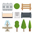city and park elements set vector image vector image