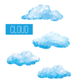 Clouds geometric in style triangular low poly vector image vector image