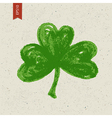 clover leaf hand drawn vector image vector image