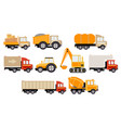 construction and cargo transport big set vector image vector image