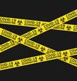 coronavirus quarantine yellow warning type vector image