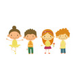 cute little children kids of different vector image vector image