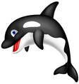 Cute Orca cartoon vector image vector image