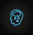 depression concept neon icon in line style vector image vector image