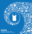 dress icon sign Nice set of beautiful icons vector image vector image